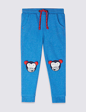 Cotton Rich Embroidered Joggers (3 Months - 7 Years)