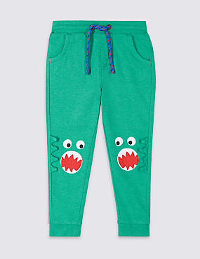 Cotton Rich Knee Dinosaur Joggers (3 Months - 7 Years)