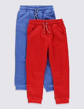 2 Pack Cotton Blend Assorted Joggers (1-7 Years)