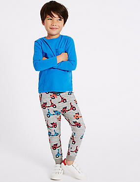 Cotton Rich All Over Print Joggers (3 Months - 5 Years)