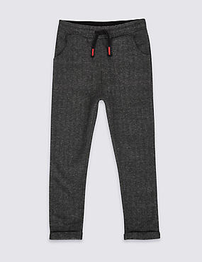 Cotton Rich Harringbone Joggers (3 Months - 6 Years)