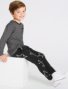 Pure Cotton Printed Joggers (3 Months - 7 Years)