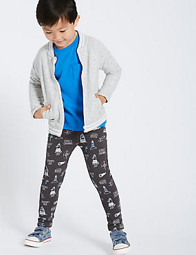 Cotton Rich Ship Print Joggers (3 Months - 6 Years)