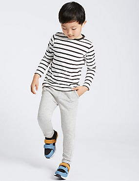 Cotton Rich Textured Joggers (3 Months - 6 Years)