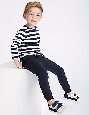 2 Pack cotton Rich Joggers (3 Months - 7 Years), NAVY MIX, catlanding