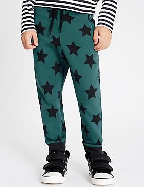 Cotton Blend Star Print Joggers (1-7 Years)