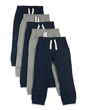 5 Pack Cotton Rich Joggers (1-7 Years)