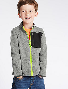 Knitted Fleece Zip Through Jumpers (1-7 Years)