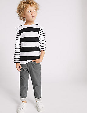 Cotton Rich Cord Trousers (3 Months - 7 Years), GREY, catlanding