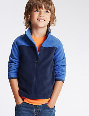 Zipped Through Neck Fleece Top (1-7 Years)