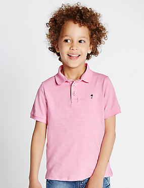 Pure Cotton Polo Shirt (1-7 Years)