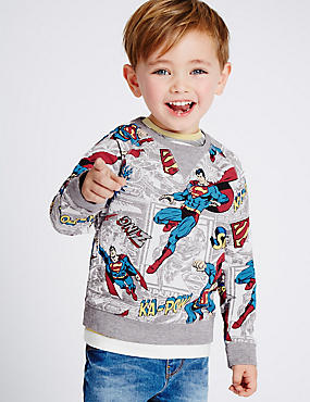 Cotton Rich Superman™ Sweatshirt (3 Months - 5 Years)