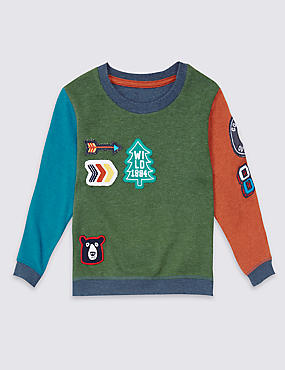 Badge Detail Sweatshirt (3 Months - 5 Years)
