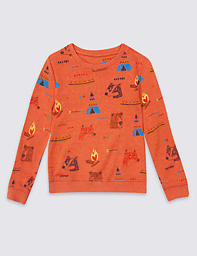 Cotton Rich Printed Sweatshirt (3 Months - 5 Years)