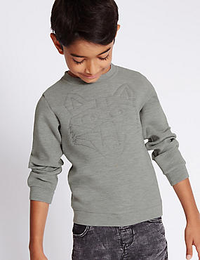 Fox Embroidery Sweatshirt (1-7 Years)