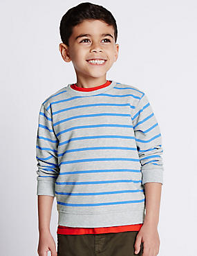 Pure Cotton Striped Sweatshirt (1-7 Years)