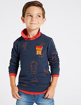 Cotton Rich Sweatshirt (3 Months - 7 Years), DENIM MIX, catlanding
