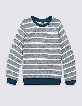 Pure Cotton Striped Sweatshirt (3 Months - 5 Years)