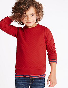 Cotton Rich Quilted Sweatshirt (1-7 Years)