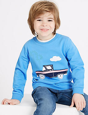 Pure Cotton Sweatshirt (3 Months - 7 Years)