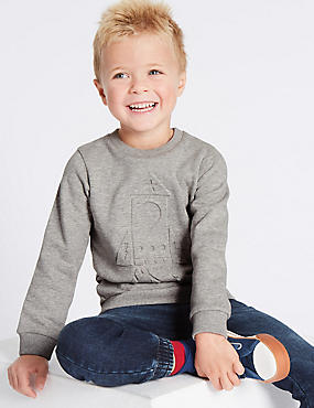 Pure Cotton Sweatshirt (3 Months - 6 Years)