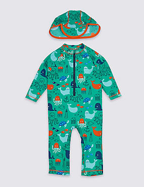 2 Piece All Over Print Swimsuit Set (3 Months - 7 Years)
