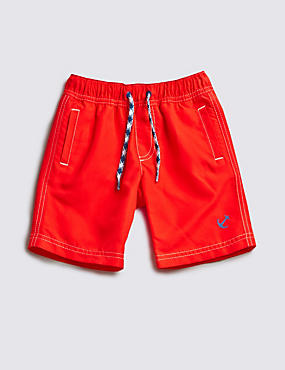 Drawstring Waist Woven Swim Shorts (1-7 Years)