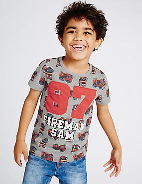 Cotton Rich Fireman Sam™ T-Shirt (1-5 Years)