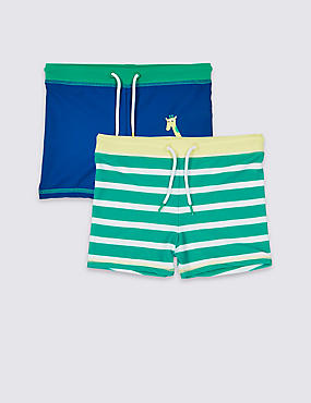 2 Pack Drawstring Swim Trunks (3 Months - 7 Years)