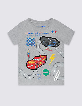 Pure Cotton Disney Cars T-Shirt (1-5 Years)