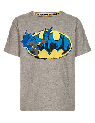 Cotton Rich Batman™ Print T-Shirt with Accessory Clothing