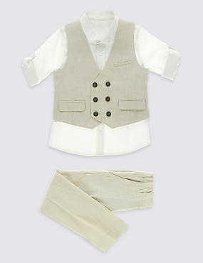 3 Piece Waistcoat Outfit (3 Months - 5 Years)