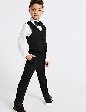 4 Piece Tuxedo Outfit (3 Months - 7 Years), BLACK, catlanding