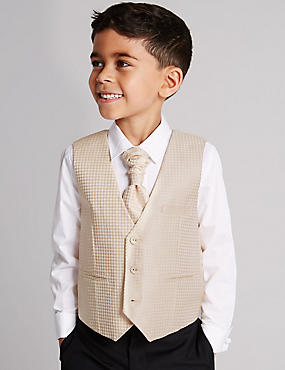 3 Piece Waistcoat & Shirt with Cravat Outfit (1-10 Years)