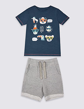 2 Piece T-Shirt & Shorts Outfit (3 Months - 5 Years)