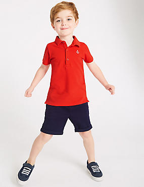 2 Piece Polo Shirt & Shorts Outfit (3 Months - 7 Years), MULTI, catlanding