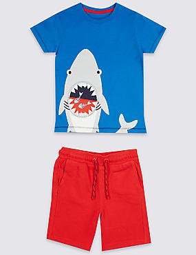 2 Piece Top & Bottom Shark Outfit (3 Months - 7 Years)