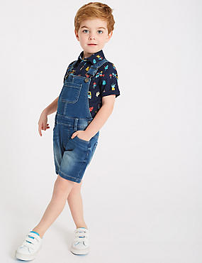 Denim Dungarees (3 Months - 7 Years), MULTI, catlanding