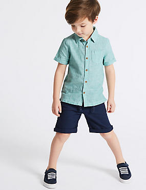 2 Piece Woven Shirt & Shorts Outfit (3 Months - 7 Years), MULTI, catlanding