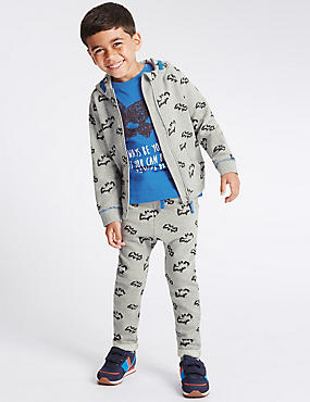 3 Piece Pure Cotton Jacket, Top & Trousers Batman™ Outfit (1-8 Years)