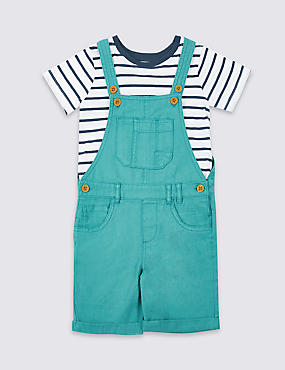 2 Piece T-Shirt & Dungarees Outfit (3 Months - 5 Years)