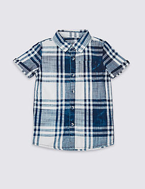 Pure Cotton Checked Shirt (3 Months - 5 Years)