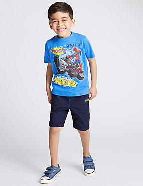 Pure Cotton Spider-Man™ T-Shirt & Shorts Outfits (1-8 Years)