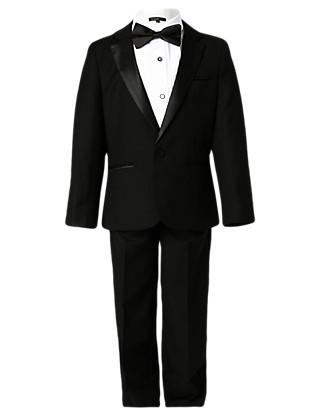 4 Piece Tuxedo Suit (1-7 Years) Clothing