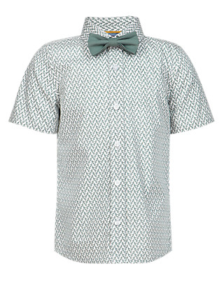 Pure Cotton Floral Shirt with Bow Tie (1-7 Years) Clothing