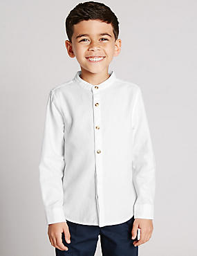 Pure Cotton Waffle Shirt (1-7 Years)