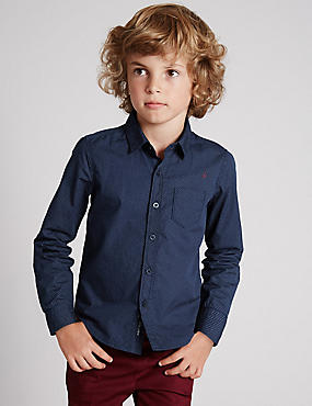 Pure Cotton Long Sleeve Shirt (1-7 Years)