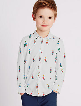 All Over Soldier Print Shirt (1-7 Years)