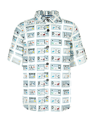 Pure Cotton Stamp Print Shirt (1-7 Years) Clothing