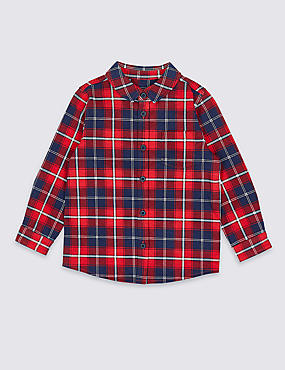 Pure Cotton Jersey Shirt (3 Months - 7 Years), RED MIX, catlanding